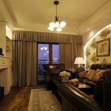 现代美式小客厅装修效果图